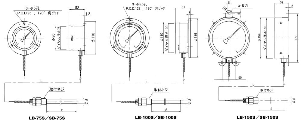 日本佐藤sksato壁挂式温度计LB-75S-日本佐藤